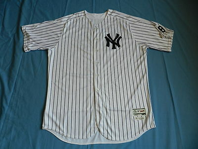 CC Sabathia 2016 New York Yankees non game used jersey withe Berra patch