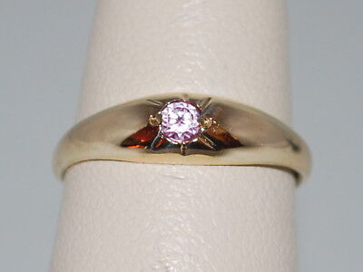 10k Gold ring with pink tourmaline(October birthstone)