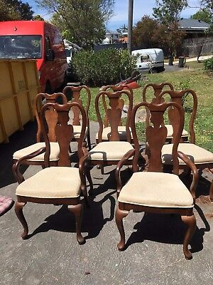 Victorian antique dining chairs, set of eight