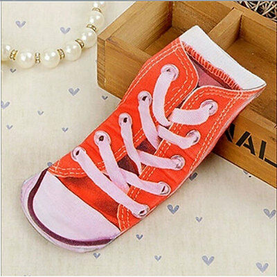 Women 3D Fashion Printed Animal Casual Socks Cute Low Cut Ankle Socks shoes 3#