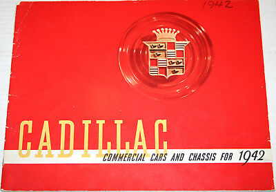 1942 CADILLAC Commercial Cars, Chassis, Hearses 28 pg ORIGINAL sales Brochure