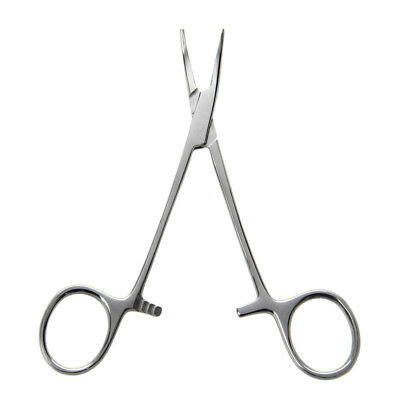 """5"""" Fishing Hemostat Locking Clamps Forceps Stainless Steel Curved Tip WS M2F7"""