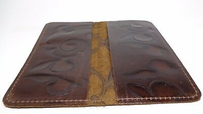 Bay State Exclusive Fleur De Lis Leather Standard Checkbook Cover-Made in USA.
