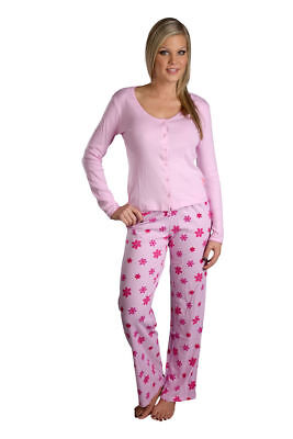 Hering 100% Cotton Long sleeve button up floral Cotton Pajama Set