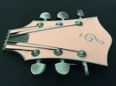 New Pink Guitar Belt Buckle
