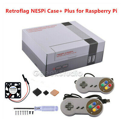 NesPi NES Style Retroflag Case + Nes Controllers for Raspberry Pi 3, 2, and B+