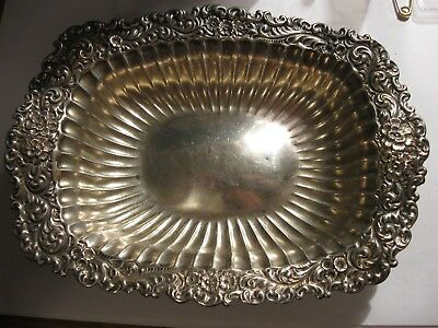 Beautiful Antique Repousse Whiting Sterling Silver Dish NOT SCRAP NO RESERVE!!!!