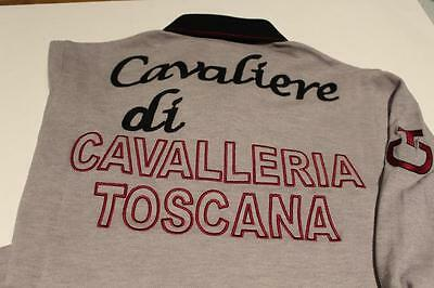 CAVALLERIA TOSCANA Italy GRAY Long sleeve POLO Logo Shirt Mens S Womens Medium M