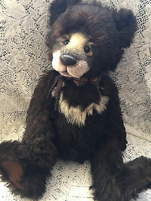 """ANNIVERSARY ISABELLE MASTERPIECE * CHARLIE BEARS 2015 MOHAIR * 22.5"""" New"""