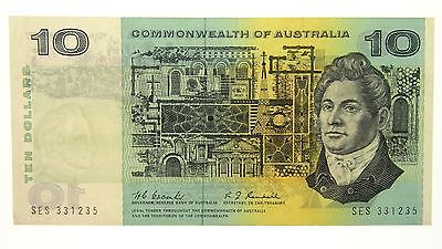 1967 Ten Dollars Coombs / Randall Banknote in Very Fine Condition