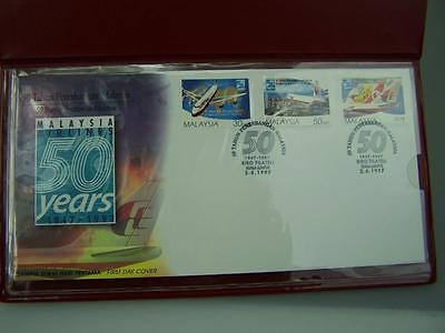 Malaysia Airlines 50th Anniversary presentation stamp pack 1997