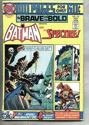 Brave And The Bold #116-1974 fn- Spectre Batman 100 page Giant