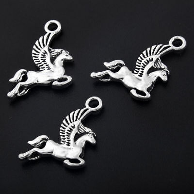 10x Tibetan Silver Winged Horse Pegasus Charm Pendant Beads 20*15mm Wholesale
