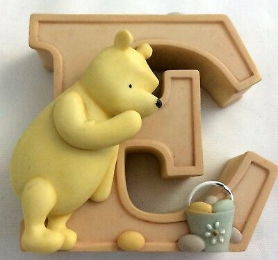 Disney Classic Winnie the Pooh Figurine Letter E for Easter Eggs