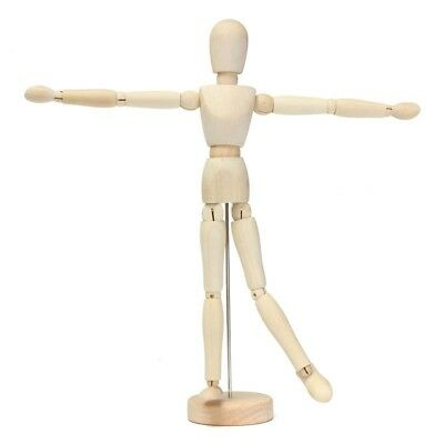 "12"" artist wooden man mamikin mannequin sketch sketching lay figure WS O8F3"