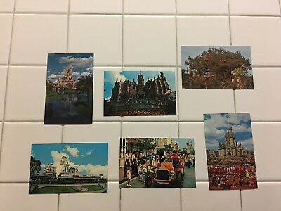 Vintage Walt Disney World Postcards Lot Of 6