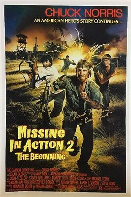 Missing In Action 2 The Beginning Giclee Print Signed By Chuck Norris