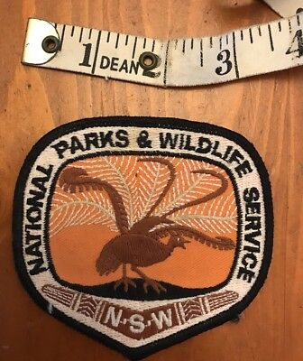 Vintage cloth badge National Parks And Wildlife NSW