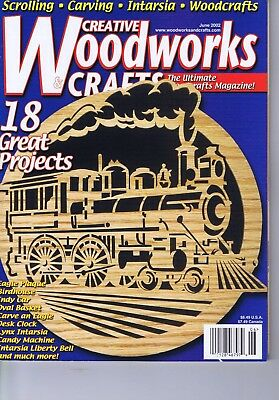 Creative Woodworks Crafts Magazine Scrolling Carving Intarsia Patterns June 2002