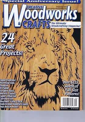 Creative Woodworks Crafts Magazine Scrolling Carving Intarsia Patterns Sept 2002