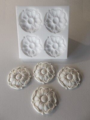 Tudor Rose Silicone Rubber Mould  Make Your Own Mouldings Furniture Diy Crafts