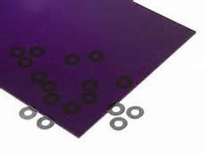 "Purple Transparent Acrylic Plexiglass sheet 1/16"" x 5.5"" x 5.5"" #3073"