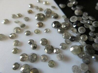 100 Pieces Wholesale 3mm To 4mm Salt And Pepper Rose Cut Diamond Loose Cabochon