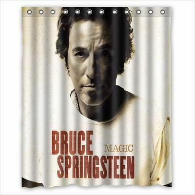 Brand New Bruce Springteen Shower Curtain 60 X 72 Inch With 12 Holes