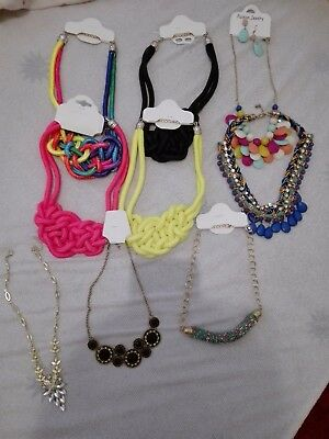 Lot Of 9 Womens Fashion Necklaces Accessories Jewelry Color Beads
