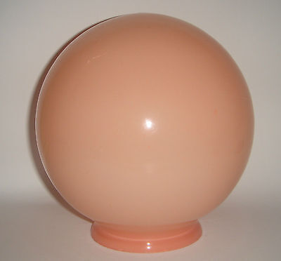 Glass Light Shade Fitting Round Sphere Ball Peachy Colour Vintage Home Decor
