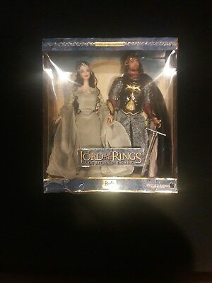 Lord of the Rings Aragorn and Arwen Barbie x New Line Cinema Collector's Edition