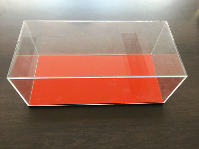 Clear 3mm Acrylic Cube Acrylic Perspex Display Case 340mm Dustproof