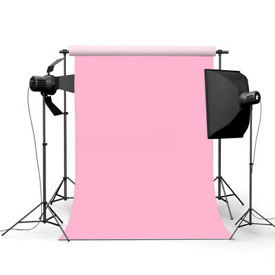 3x5ft Baby Pink Thin Photography Backdrop Background Studio Photo Props 90X150cm