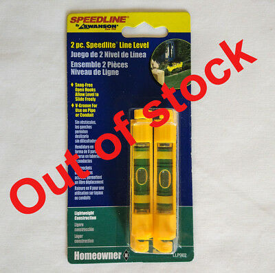 Swanson String Line Level Brick Bubble Spirit Level 7g in weight