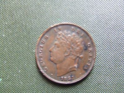 George Iv.   1827,  Third Farthing.    Scarce.   Nice Condition.