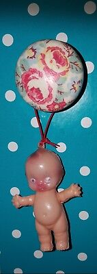 """Vintage kewpie doll 3"""" tall. Perfect for hanging on Christmas tree.New old stock"""