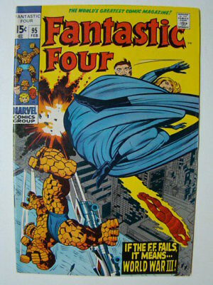 Fantastic Four #95 Jack Kirby Art & 1st Monocle Appearance 1970 FN