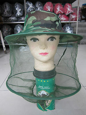 Mosquito Fly Insect Bee Fishing Mask Face Protect Hat Net Camouflage NEW GOOD
