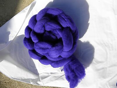 Hand Dyed Roving   Intense Iris  100g