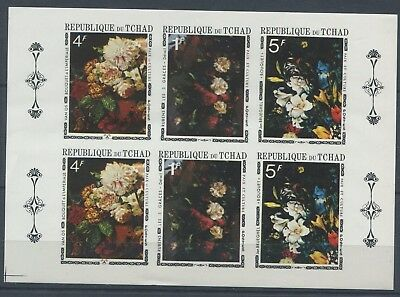 3647. Republic Of Chad. Art. Painting. Flowers. MNH.