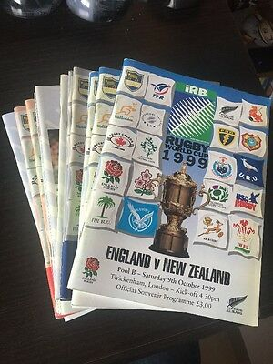Collection/ job lot - 15 x Rugby World Cup 1999 Programmes