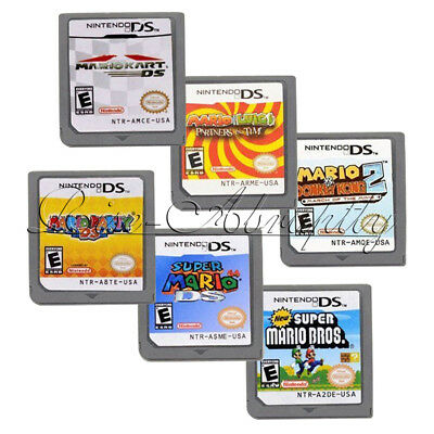 6PCS Mario Game Card Child Children Kid Gifts For DS NDS DSI 3DS US Version