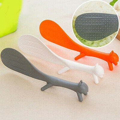 1PC Plastic Kids Baby Squirrel Spoon Kitchen Dining Utensils Bakery Random Tools