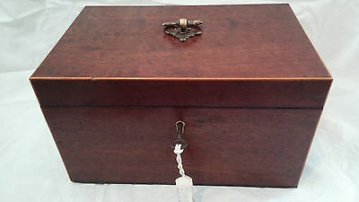 Antique Georgian 'Plum Pudding' Mahogany Desk/Trinket Box