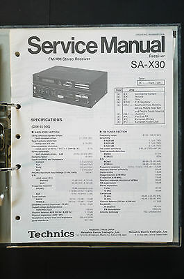 TECHNICS SA-X30 FM/AM Receiver Original Service-Manual/Handbuch/Schaltplan TOP!!
