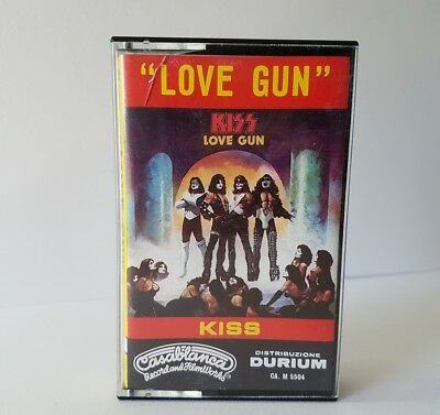 Kiss - Love Gun - Cassetta Casablanca Italy 1977 Nuova Hard Rock Mc Tape Mint