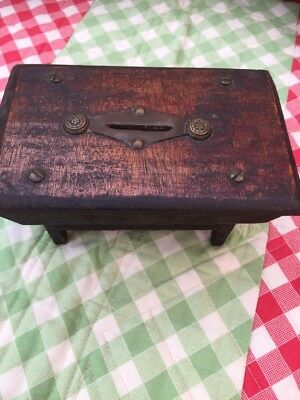 Old Naive Primitive Church Collection Box