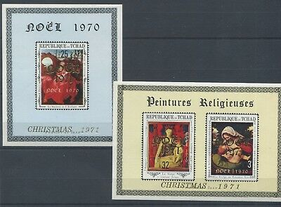 3669. Republic Of Chad. Painting. Christmas. MNH.