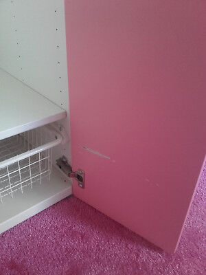 IKEA STUVA pink & white wardrobe & 2 storage units
