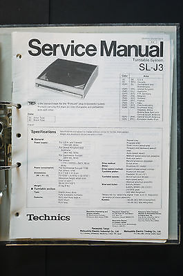 TECHNICS SL-J3  Original Plattenspieler/Turntable Service-Manual/Schaltplan!